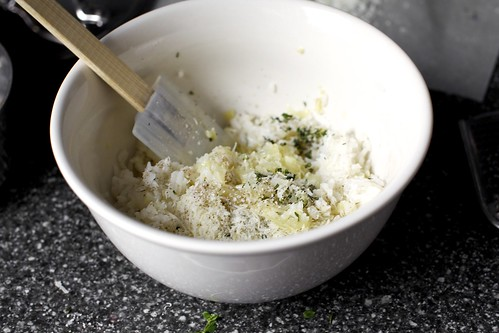 mixing rice, onions, herbs, parmesan | by smitten kitchen