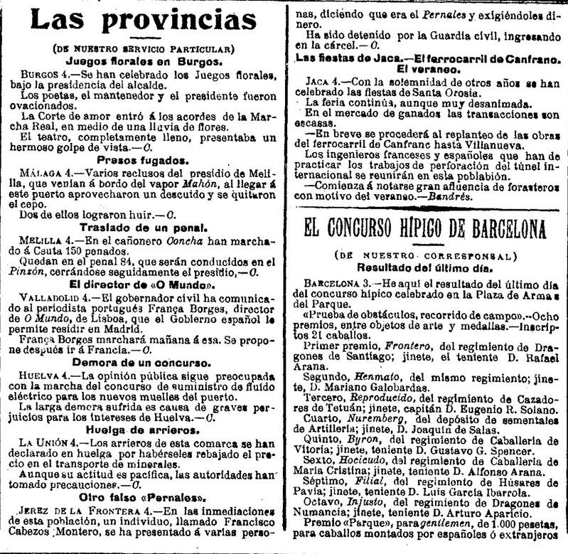 LA EPOCA JUEVES 4 JULIO 1907