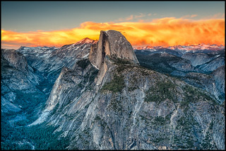 Half Dome Amidst the Heavenly Fires | by Nietnagel