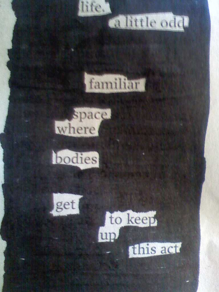 Life A Blackout Poem Visual Assignment 11 Assignments