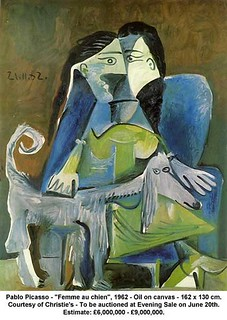 "Pablo Picasso - ""Femme au chien"", 1962 
