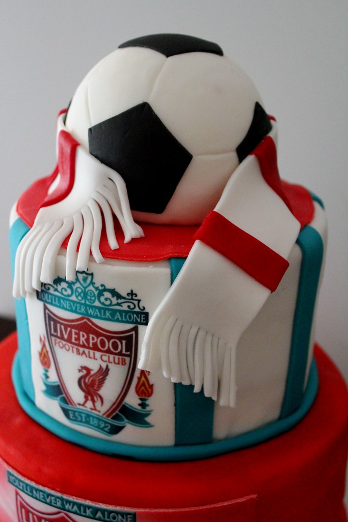 Liverpool Soccer Club 50th Birthday Cake Marina Carter