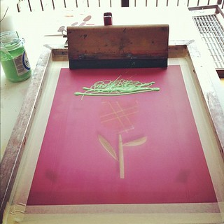 Setting up the 2nd color for our Feist poster for her Pittsburgh show. | by strawberryluna