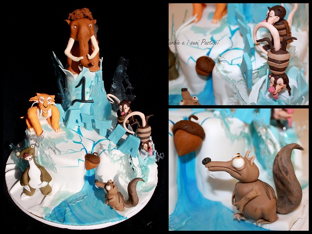 Ice Age Themed Birthday Cake