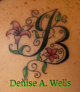 JB Lily Tattoo Design Inked! Design by Denise A. Wells | by ♥Denise A. Wells♥