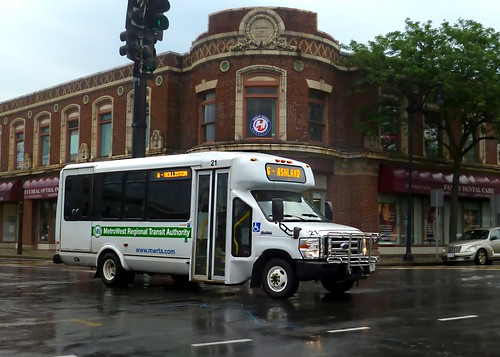 Metrowest Regional Transit Authority bus in front of the Bullard Building | by t55z