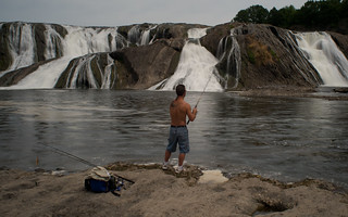 Fishing at Cohoes Falls-2666 | by chuckthewriter