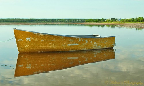 Bay of Fundy, New Brunswick - Rowboat/Reflection | by helene m