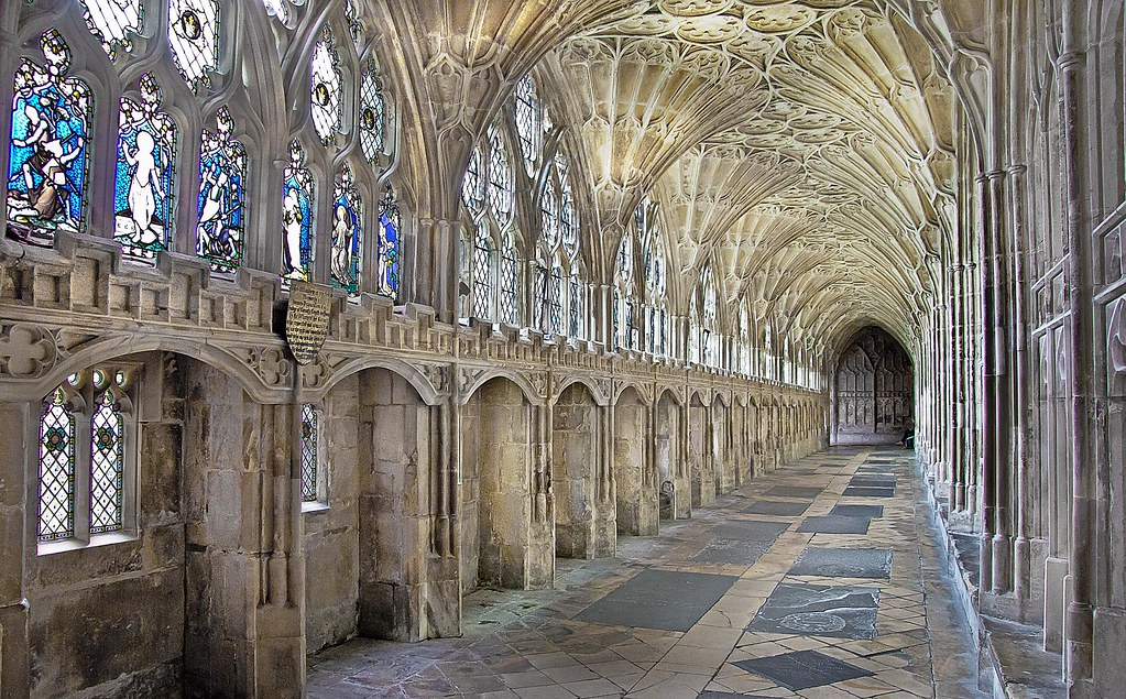 The Cloisters Gloucester Cathedral Uk One Of The Four