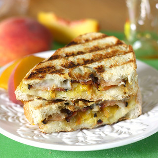 Peach, Bacon and Fontina Paninis | by Tracey's Culinary Adventures