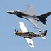 F-16 and P-51 USAF Heritage Flight