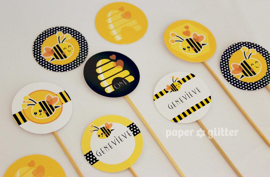 02_printable+party+printables+bee+children+birthday+paper+ ...