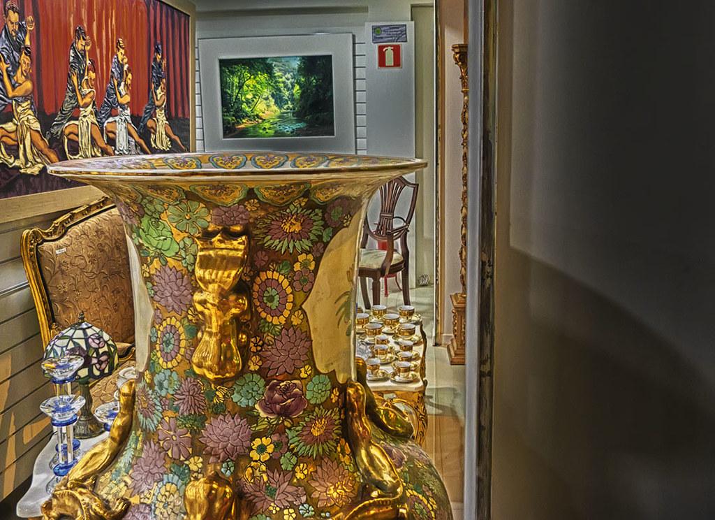 Artesanato Com Papel ~ Detalhe do vaso Na Galeria Paiva Frade, em S u00e3o Lourenço