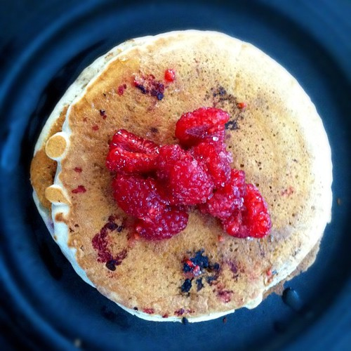 Jax requested raspberry pancakes for #breakfast | by punquin
