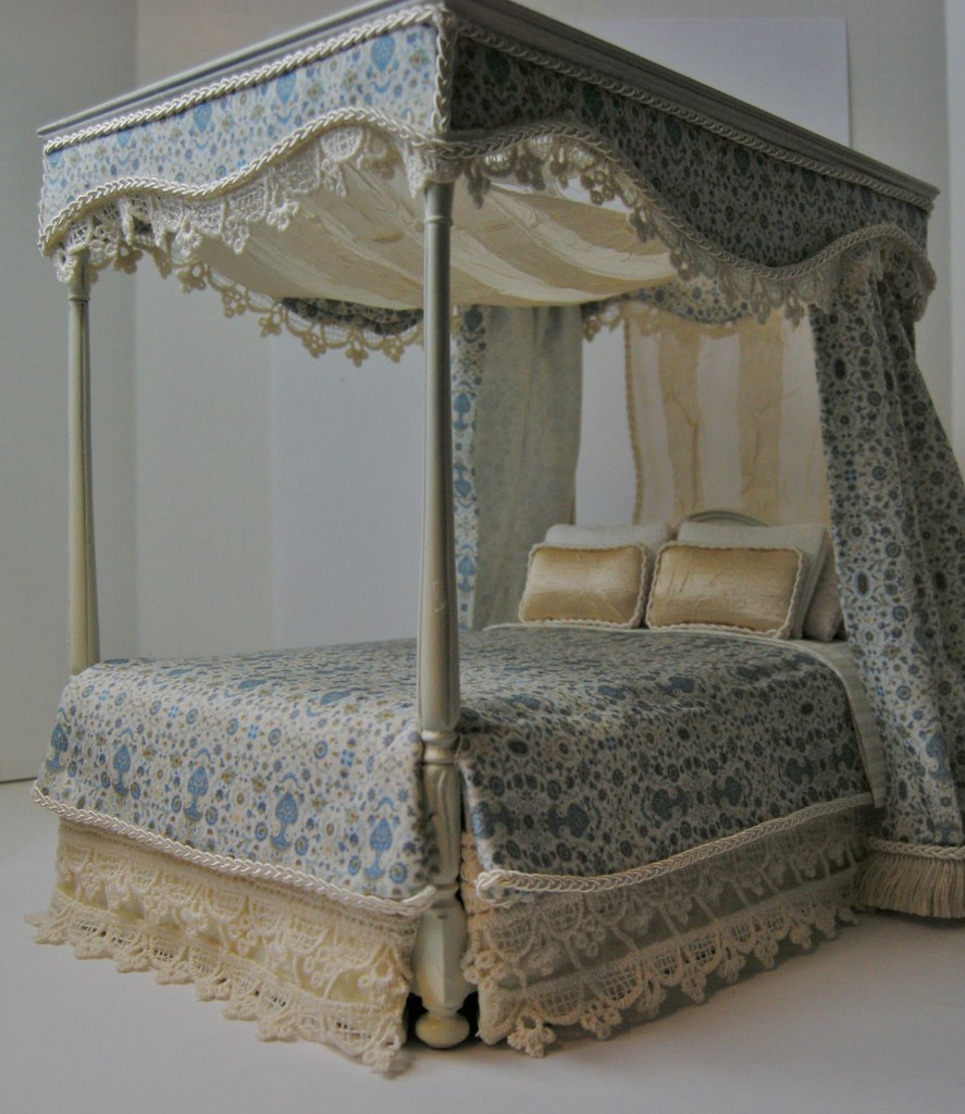 1:12 Dressed Canopy Bed | 1:12 Dressed Canopy Bed by Ken ...
