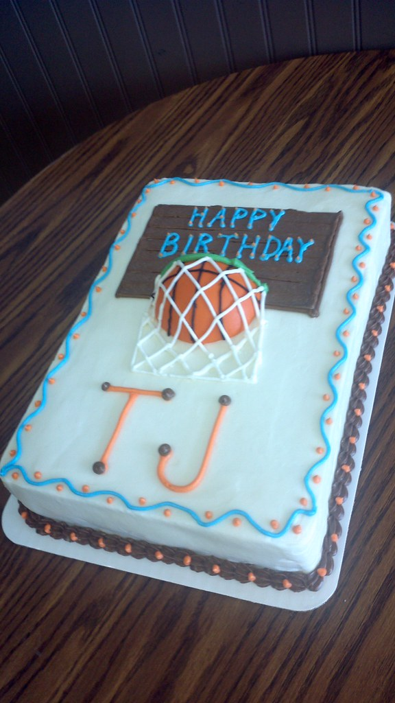 Birthday Cake Basketball Design Star Cakes In Springfiel Flickr
