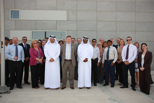One month to go: London 2012 flag raised over British Embassy Doha | by UK in Qatar