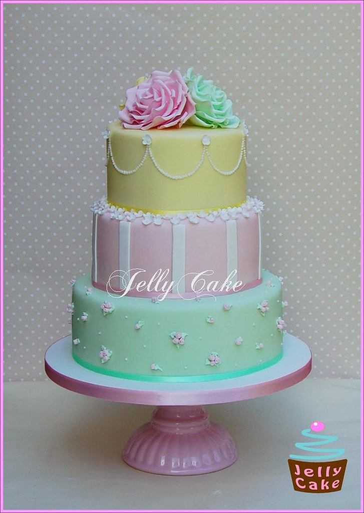 Pastel Roses Wedding Cake A Very Pretty Pastel Wedding Cak Flickr