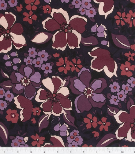 Keepsake Calico Amour maroon floral OOP | by Little Black Car