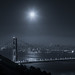 Full Moon Star Over San Francisco