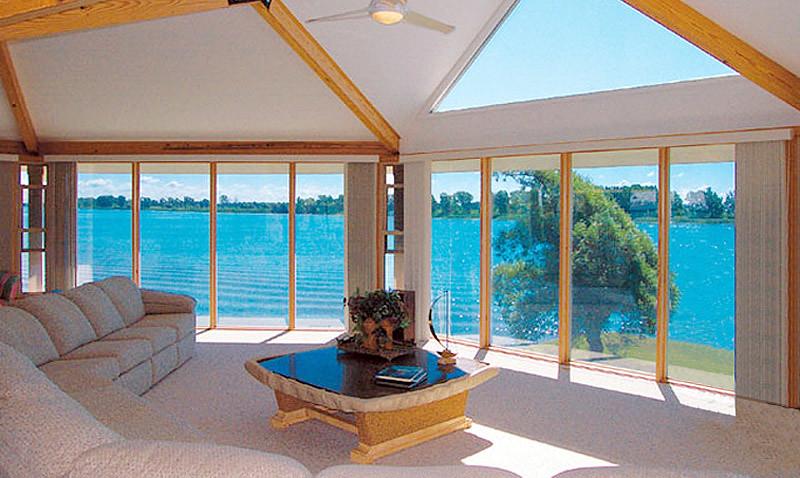Modern Prefab Home Floor Ceiling Windows This