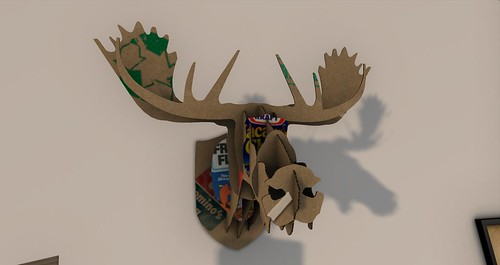 Cardboard Moose Head by flightless | by Decorating and other stuff