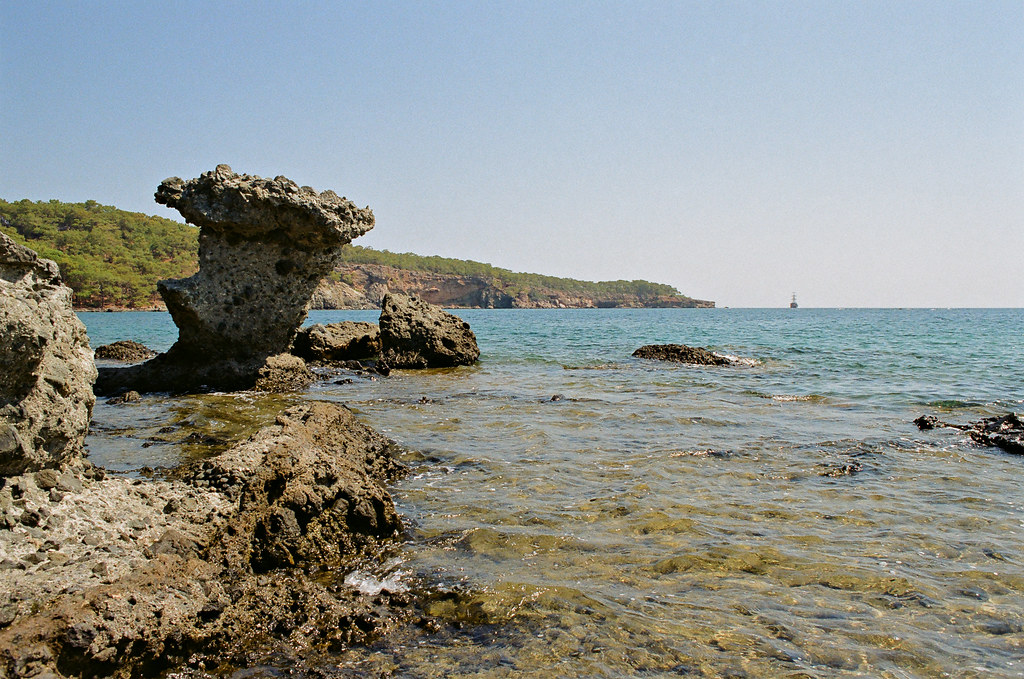 Phaselis, rock between North and Central harbours