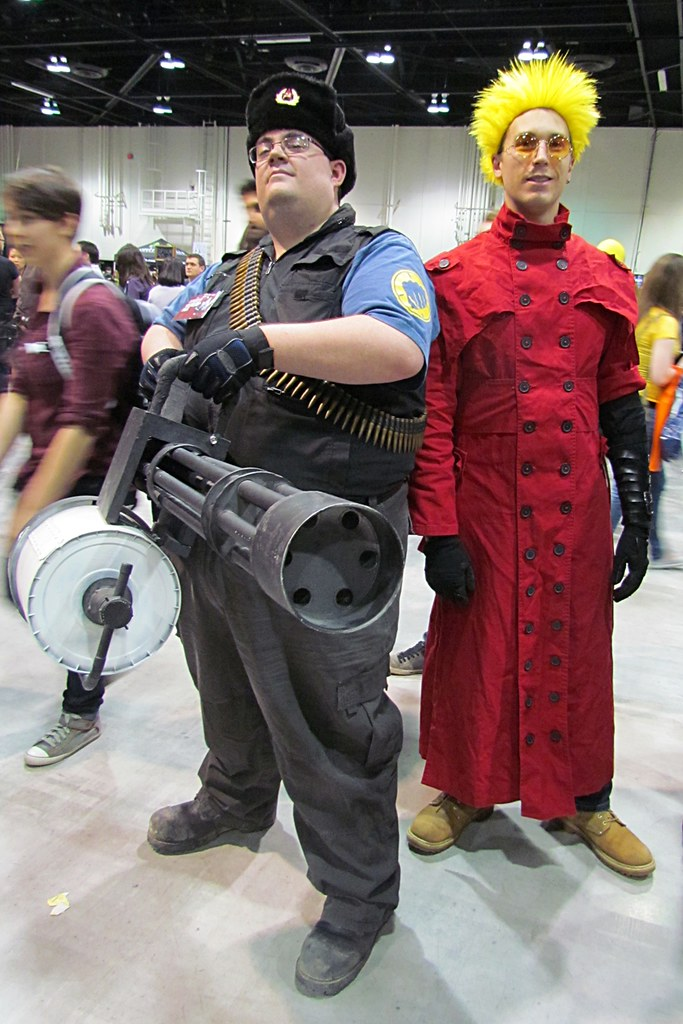heavy weapons guy and vash the stampede photo taken april flickr