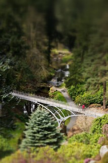 Cragside iron bridge tilt & shift effect | by Matt Wilde