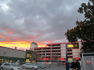 Sunset over Lichfield Street carpark | by Christchurch City Libraries
