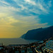 Sunset over Los Gigantes village and cliffs. By Thomas Tolkien