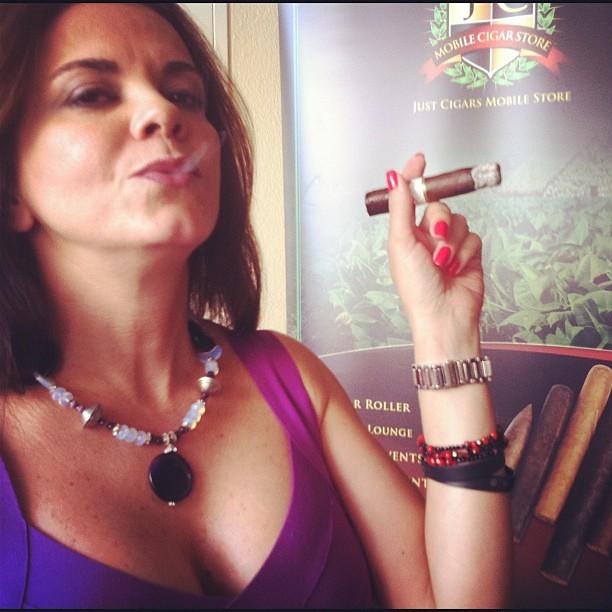 Sexy smoking cigar