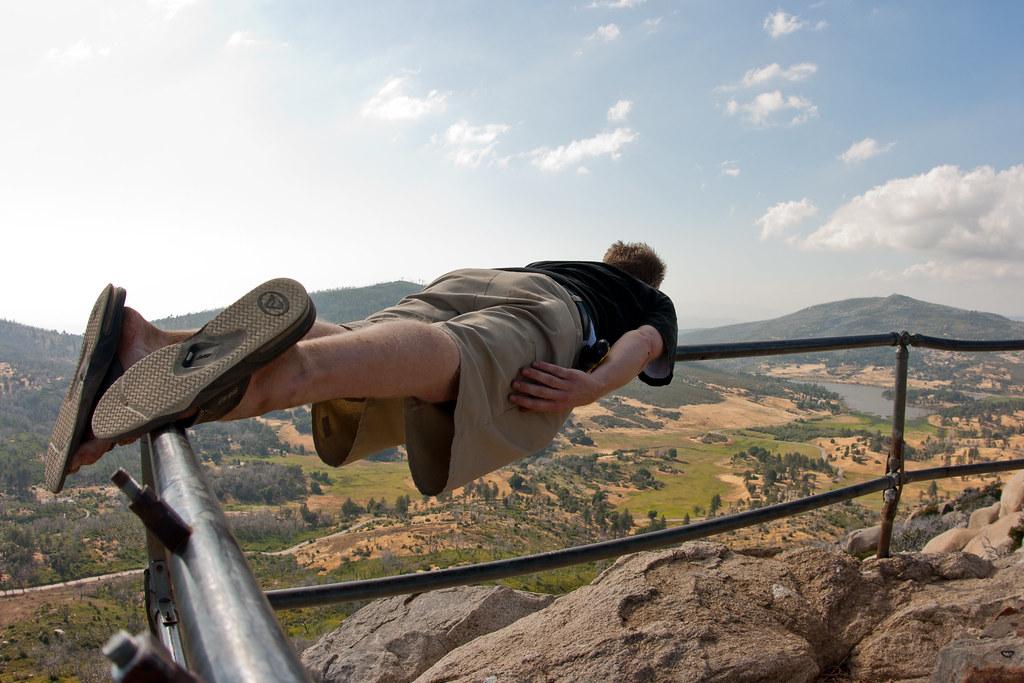 Extreme planking atop Stonewall Peak | Cuyamaca Rancho State ... California