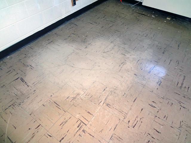 Asbestos Floor Tile Wear Damage Example 2 Flickr Photo Sharing