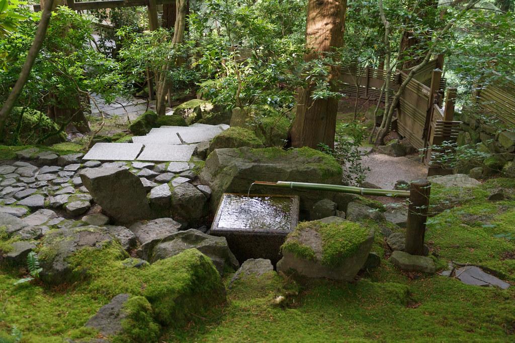 Bamboo fountain at the portland japanese garden ethan for Garden fountains portland oregon
