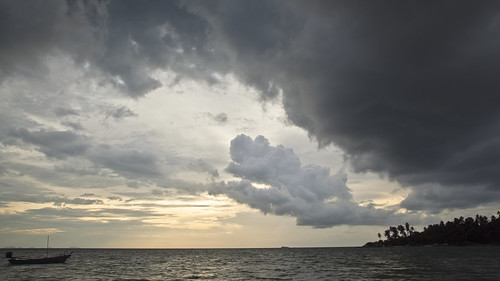 Timelapse Frame of storm coming from the sea with black clouds running over | by RickyLoca