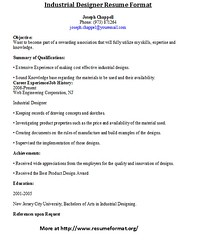 industrial designer resume format by johnreese - Industrial Design Engineer Sample Resume