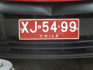 STE511 - Chile number plate - 3 Jan 2012 | by Traveller Extraordinaire