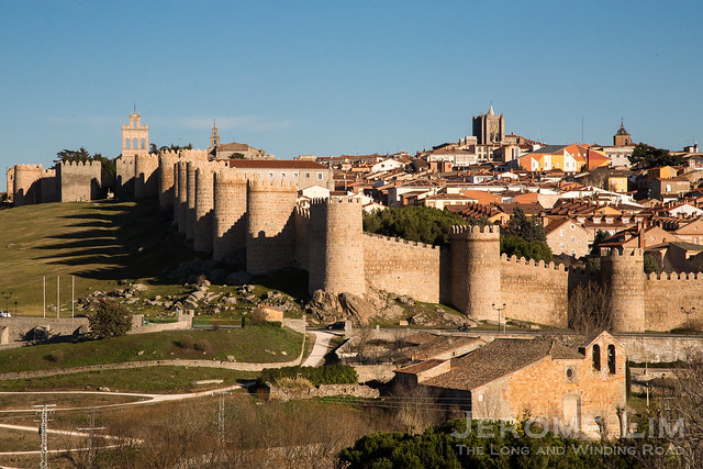 The walled medieval town of Ávila, whose walls date back to the 11th century and are said to be the best conserved of the age. The walls were constructed following the reconquest and repopulation of the area.