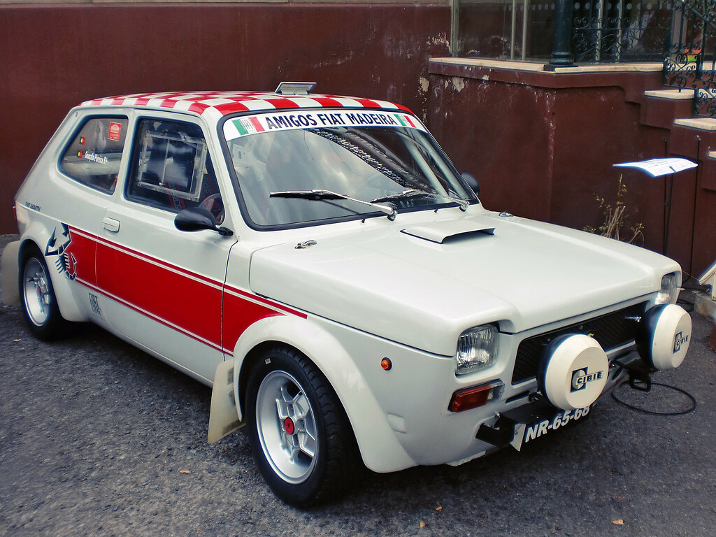 fiat 127 abarth rally car bruno pereira flickr. Black Bedroom Furniture Sets. Home Design Ideas