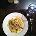 Mushroom and Roasted Garlic Fettuccine