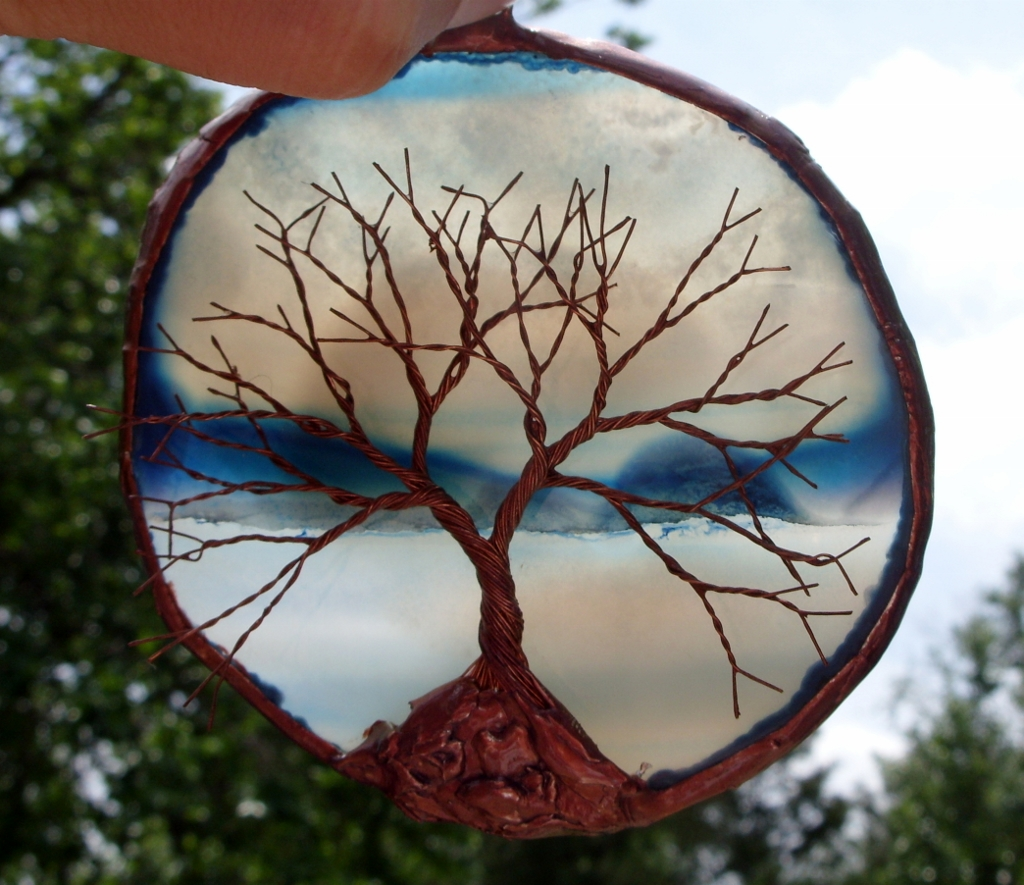 Copper Wire Tree Of Life Metal Wall Art Sculpture On A Sce… | Flickr