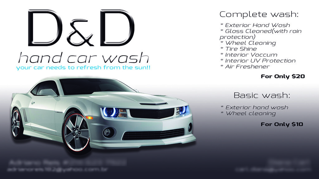 Hand Car Wash Business Plan