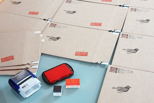 Stamping new envelopes | by Geninne