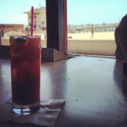Bloodys on the beach at The Mermaid. | by A Walker in LA