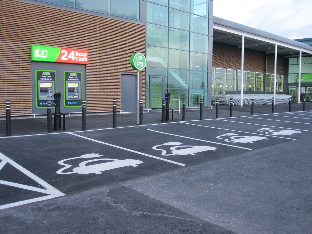 Electric Car Charging Spaces Asda In Inverness Rather