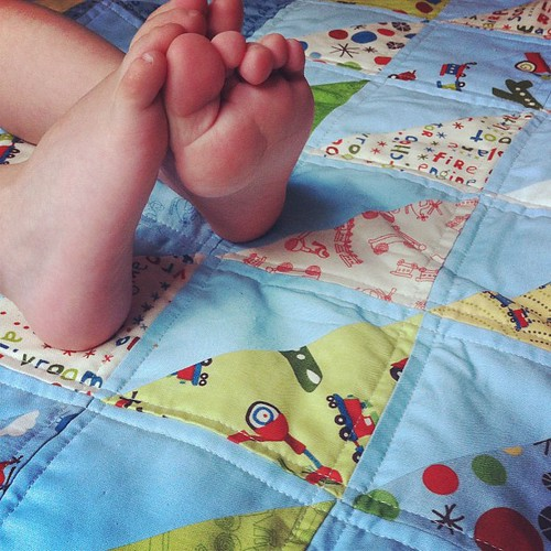 Scoot HST Baby Quilt | by CoraQuilts~Carla