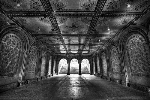 Bethesda Terrace @ Central Park - in Black & White (final) | by Daniel Portalatin Photography