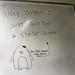 QED penguin asks inconvenient questions