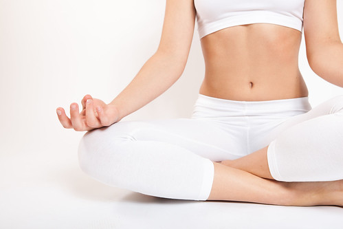 Yoga a girl in the lotus position doing yoga we welcome yo